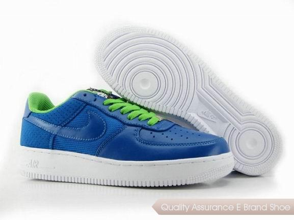 Nike Air Force 1 Mens Blue Green Shoes