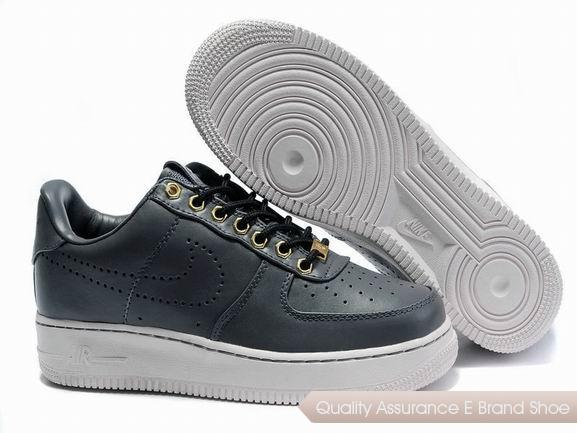 Nike Air Force 1 Mens Gray Black Shoes