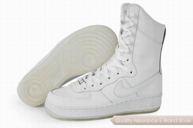 Nike Air Force 1 Womens All White Shoes