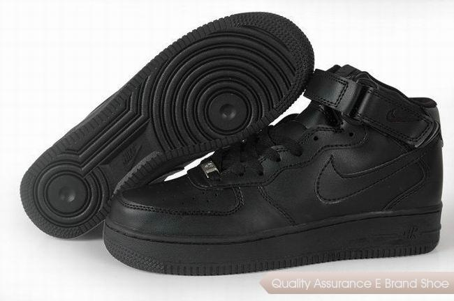 Nike Air Force 1 Unisex All Black Shoes