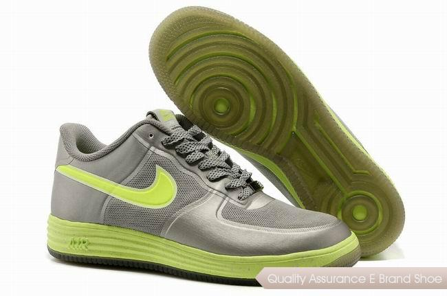 Nike Lunar Force 1 Fuse NRG Unisex Gray Green Shoes