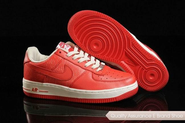 Nike Air Force 1 Low Womens Red White Shoes
