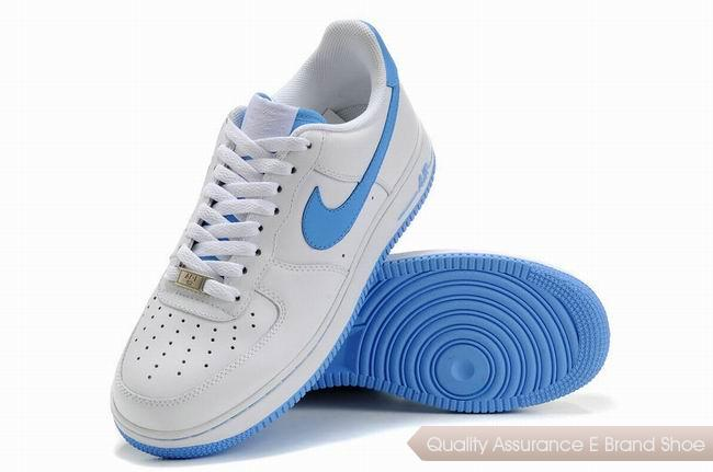 Nike Air Force 1 Unisex Blue White Shoes