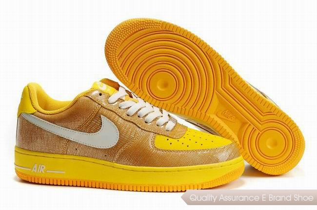 Nike Air Force 1 Unisex Yellow White Shoes