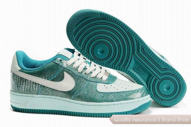 Nike Air Force 1 Unisex Green White Shoes