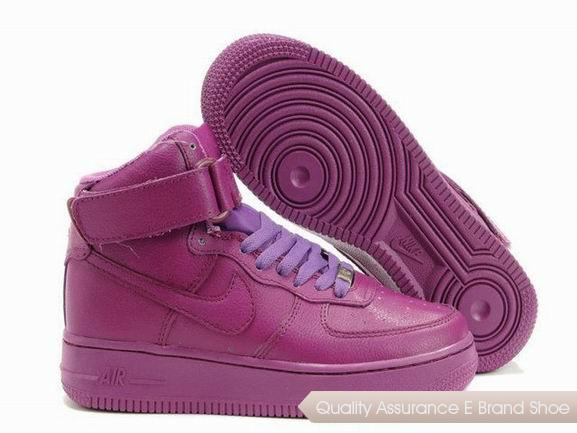 Nike Air Force 1 Womens All Purple Shoes